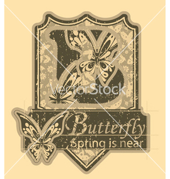 Free vintage label vector - бесплатный vector #254235