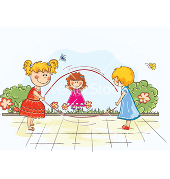Free kids playing vector - Free vector #254455
