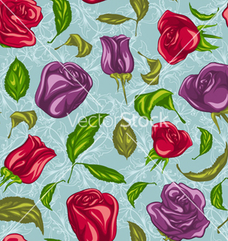 Free colorful floral pattern vector - бесплатный vector #254465
