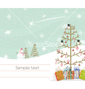 Free winter background vector - vector #254605 gratis