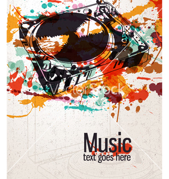 Free retro splatter music background vector - Free vector #254655
