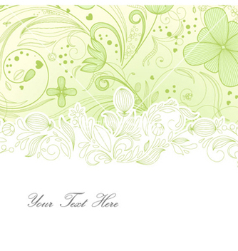 Free floral greeting card vector - Free vector #254685