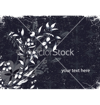 Free grunge floral background vector - vector gratuit #254815