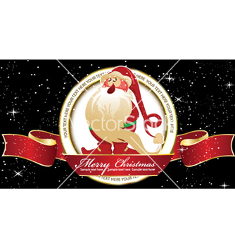 Free christmas label vector - бесплатный vector #254855