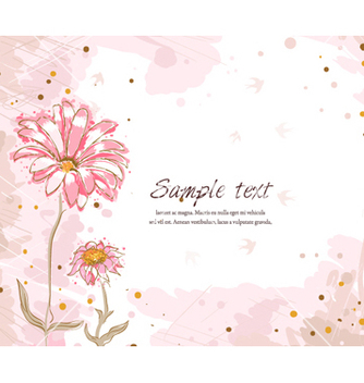 Free colorful floral background vector - Free vector #255025