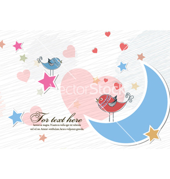 Free birds in love vector - Kostenloses vector #255095