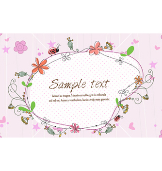 Free frame with floral vector - Kostenloses vector #255145