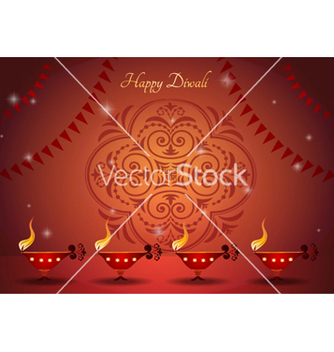 Free diwali greeting card vector - Free vector #255195