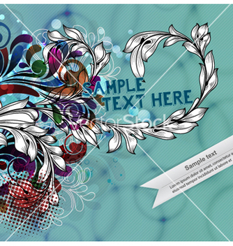 Free colorful floral background vector - Kostenloses vector #255215