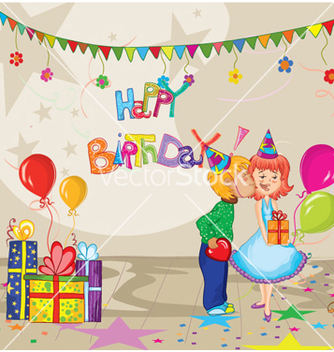 Free kids birthday party vector - Free vector #255225
