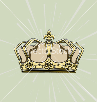 Free crown with rays vector - vector #255245 gratis