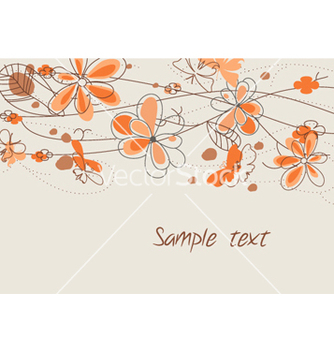 Free butterflies with floral vector - Free vector #255335