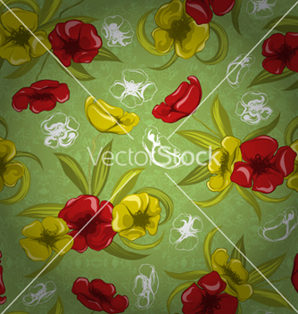 Free colorful floral pattern vector - Free vector #255385