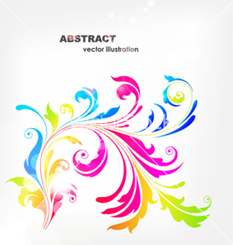 Free abstract floral background vector - Kostenloses vector #255475
