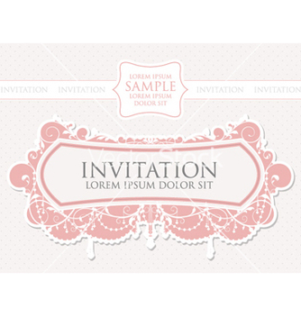 Free vintage invitation vector - бесплатный vector #255505