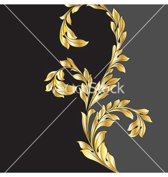 Free vintage gold floral background vector - Free vector #255525