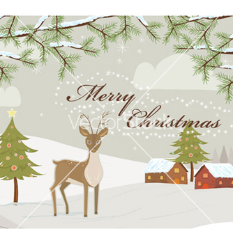 Free christmas greeting card vector - vector gratuit #255545