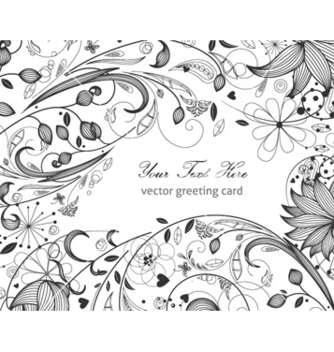 Free floral greeting card vector - Free vector #255685