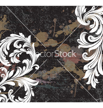 Free grunge floral background vector - vector gratuit #255975