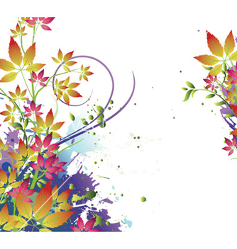 Free watercolor floral background vector - Free vector #256085