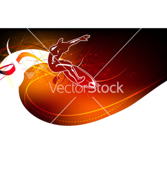 Free surfer with waves vector - Free vector #256235