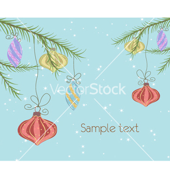 Free christmas greeting card vector - Kostenloses vector #256265