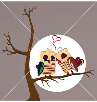 Free love birds vector - vector gratuit #256305