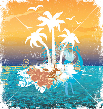 Free summer grunge background vector - Free vector #256345