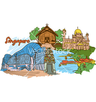 Free singapore doodles vector - бесплатный vector #256355
