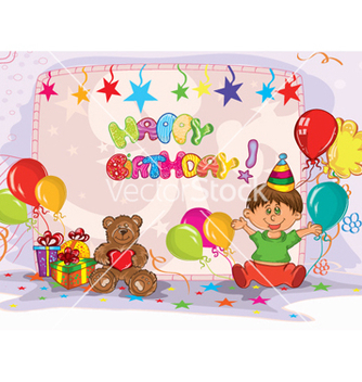 Free kids birthday party vector - Free vector #256525