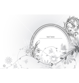 Free abstract floral frame vector - Free vector #256685