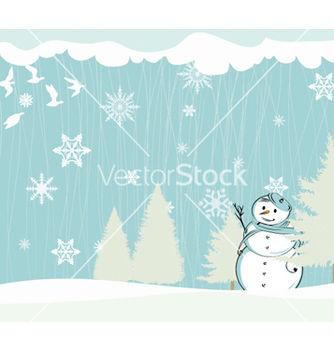 Free winter background vector - Free vector #256725