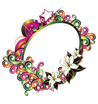 Free abstract floral frame vector - Free vector #256775