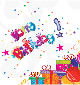 Free kids birthday party vector - Free vector #256805