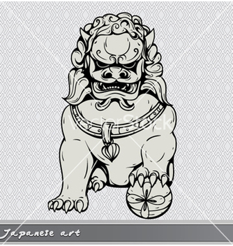 Free japanese foo lion vector - Kostenloses vector #256835