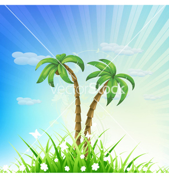 Free summer background vector - Free vector #256845