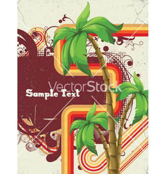 Free summer with detailed palm tree vector - vector gratuit #256915