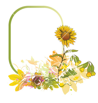 Free colorful floral frame vector - бесплатный vector #257085
