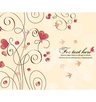 Free birds with hearts vector - Free vector #257095