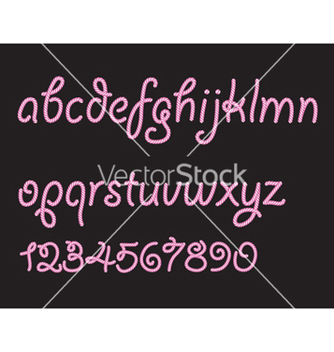 Free abstract candy font vector - Free vector #257225