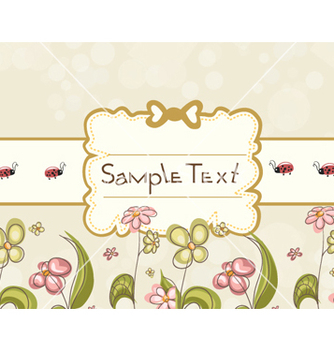 Free label with floral vector - Kostenloses vector #257235