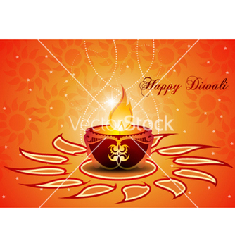 Free diwali greeting card vector - Free vector #257455