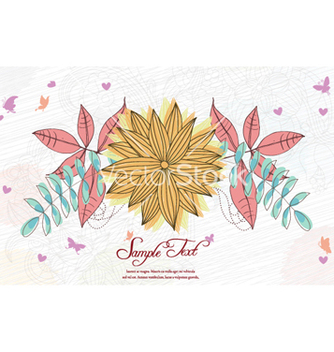 Free colorful floral vector - vector gratuit #257575