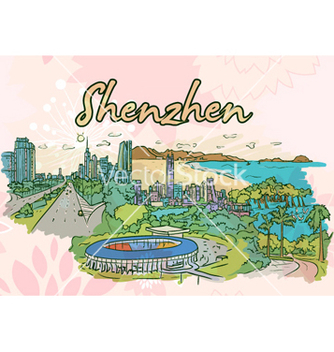 Free shenzhen doodles vector - Free vector #257635