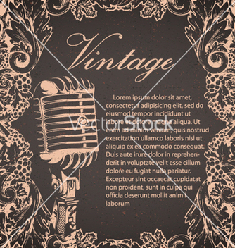 Free music poster vector - vector gratuit #257725