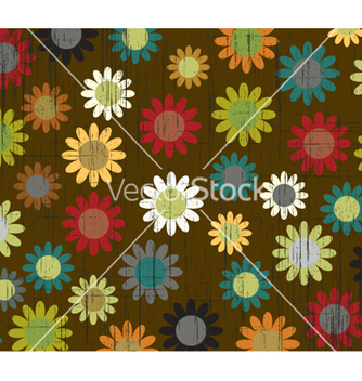 Free retro floral background vector - бесплатный vector #257845