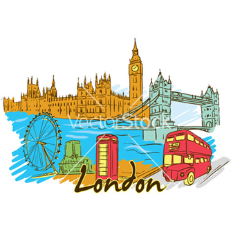 Free london doodles vector - vector gratuit #257965