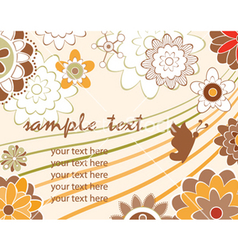 Free autumn floral background vector - Free vector #258195
