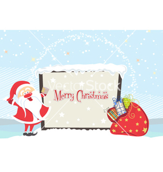 Free santa with billboard vector - vector gratuit #258205