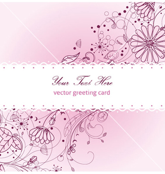 Free floral greeting card vector - Free vector #258575